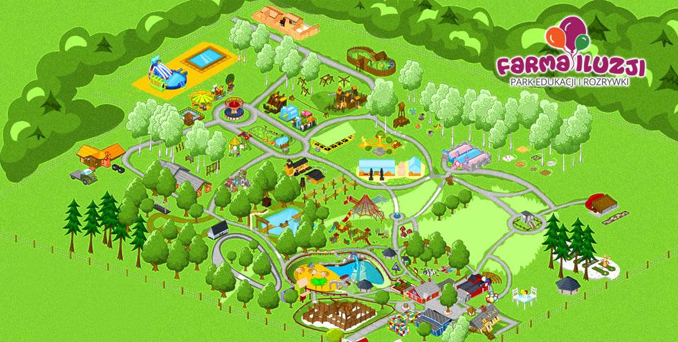 Park Rozrywki dlarodziny niedaleko Warszawy niedaleko Lublina Farma Iluzji